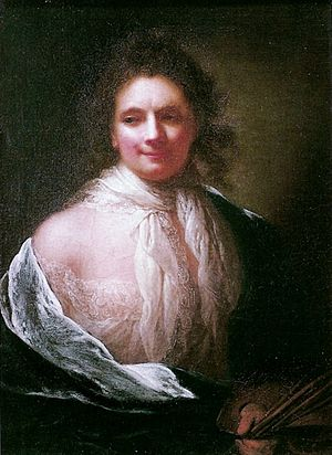 Anna Dorothea Therbusch - Anna Dorothea Therbusch Self-portrait from 1761