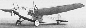 Tupolev ANT-9 - Early production ANT-9 with three engines