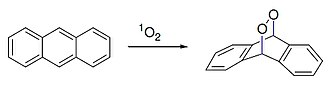 Anthracene - Diels alder reaction of anthracene with singlet oxygen