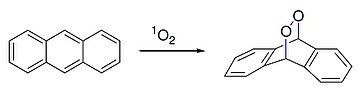 Diels alder reaction of anthracene with singlet oxygen