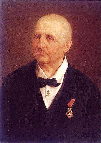 Anton Bruckner - Anton Bruckner wearing the badge of the Order of Franz Joseph (portrait by Josef Büche)