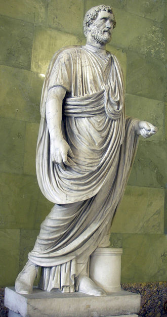 Roman citizenship - The toga was the characteristic garment of the Roman male citizen, and statues of emperors (here Antoninus Pius) frequently depict them togate (togatus).