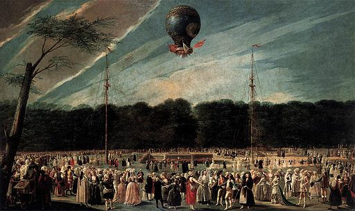Antonio Carnicero Y Mancio - Ascent of the Monsieur Bouclé's Montgolfier Balloon in the Gardens of Aranjuez - WGA04273