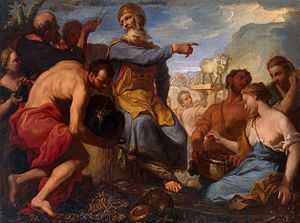 Antonio Molinari - Molinari's Adoration of the golden calf (1700-1702) is in the Hermitage Museum.