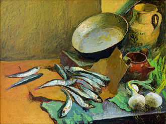Anchovy - Still Life with Anchovies, 1972, Antonio Sicurezza