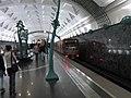 Aquarel (Watercolor) train at Slavyansky Bulvar station (Метропоезд Акварель на станции Славянский Бульвар) (5089417136).jpg