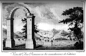 Arch of Cabanes - The arch depicted in a print of 1795