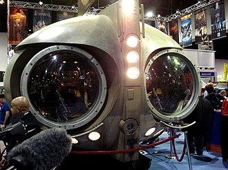 Watchmen (film) - Archie (Nite Owl's airship) on display at the 2008 Comic-Con