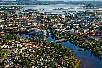 Karlstad - Image: Areal photo of Karlstad