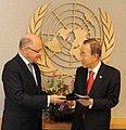 Argentine Foreign Minister Héctor Timerman & UN Secretary General Ban Ki-moon, 10 February 2012.jpg