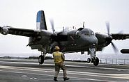 Argentine S-2T landing on carrier Sao Paulo 2006