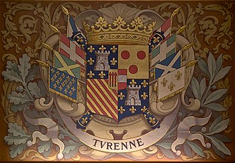 Henri de la Tour d'Auvergne, Vicomte de Turenne - Turenne's coat of arms in the Château de Chantilly
