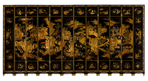 Armorial screen, Qing dynasty 1720-1730, from Peabody Essex Museum Armorial screen, Qing Dynasty 1720-1730.jpg