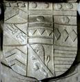 Armorials SirEdmondPrideaux 1stBaronet Died1628 FarwayChurch Devon.PNG