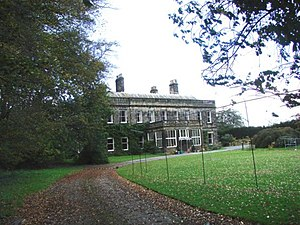 Arthington Priory - Arthington Hall, built on the priory land, possibly re-using the old front door