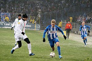 Artjoms Rudņevs - Rudņevs playing against Leonardo Bonucci of Juventus in the 2010–11 Europa League
