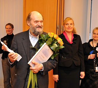 Arvo Pärt - Pärt at the Estonian Foreign Ministry in 2011