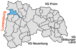 Vị trí của Harspelt in the Verbandsgemeinde Arzfeld