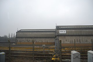 Chart Leacon TMD Disused railway maintenance depot in Ashford, Kent