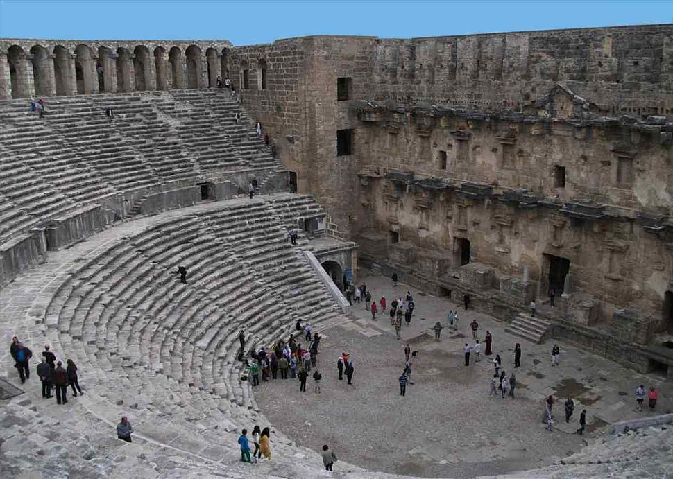 Aspendos theatre from gallery
