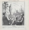 At the bar, meeting point for the true lovers of French sculpture and Bavarian beer, from 'Exhibition sketches,' published in Le Charivari, June 3, 1865 MET DP877367.jpg