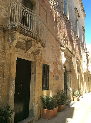 Auberge de France, Birgu - Façade of Auberge de France