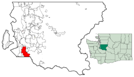 vị trí của Auburn in King County, and Pierce County.
