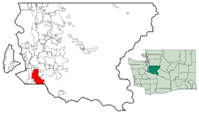 Location of Auburn, Washington