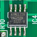 Audioline TEL 38 SMS - display printed circuits board - Atmel 24C256N-92373.jpg