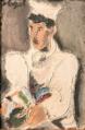 Autoportrait Helmut Kolle, Le cuisinier et le coq,1924 Paris, Art d'exposition Lam Lille métropole musée d'art moderne.png