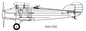 Avro 530 - Image: Avro 530 left