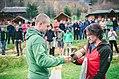 Awarding Serhiy Sapiha, the winner of Chornohora Night Marathon 2017 (fall).jpg