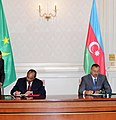 Azerbaijan-Mauritania documents signed, 2010 02.jpg