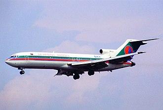 Boeing 727 - Image: Azerbaijan Airlines Boeing 727 235; 4K AZ2@FRA, July 1996 (5695398251)