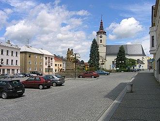 Bílovec - Image: Bílovec, Slezské sq 2