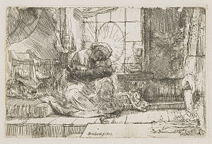 Virgin and Child with a Cat - Image: B063 Rembrandt