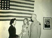 BG John L. Pierce, his daughter, Isabel,WAVES