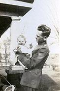 BG John L. Pierce, with his daughter, Isabel