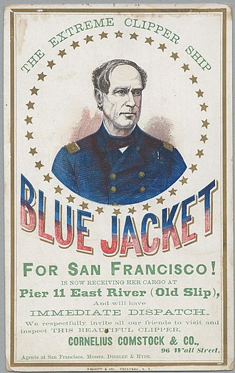Blue Jacket (clipper) - Image: BLUE JACKET (Ship) (c 112 01 07)