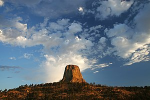 Butte - Devils Tower in Wyoming