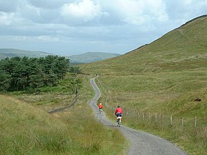 Pennine Cycleway - Image: Back road from Buxton to Whaley Bridge geograph.org.uk 130219