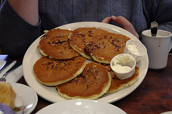 Original Pancake House bacon-filled pancakes (...