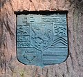 Bad Homburg, Landgrafendenkmal, Tannenwaldallee, Wappen.JPG