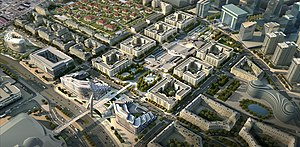 Baku White City project, View to Nobel avenue