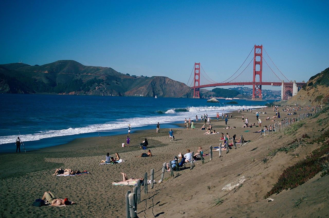 Golden Gate Bridge from Baker Beach - San Francisco, Calif