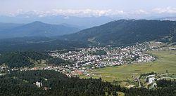 Bakuriani - Ort vom Kochta-Hügel.JPG