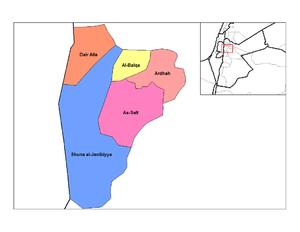 Nahias of Jordan - Nahias of Balqa