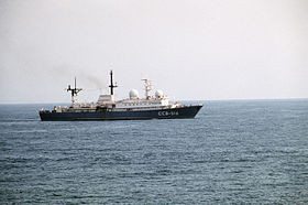 Balzam-class general intelligence collector ship - Ocean Sarafi 85 - DN-ST-86-02553.JPEG
