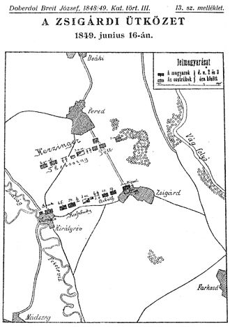 Battle of Pered - Battle of Zsigárd on 16 June 1849