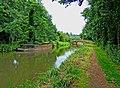 Barge and Bridge on the Godalming Navigation - geograph.org.uk - 1418295.jpg